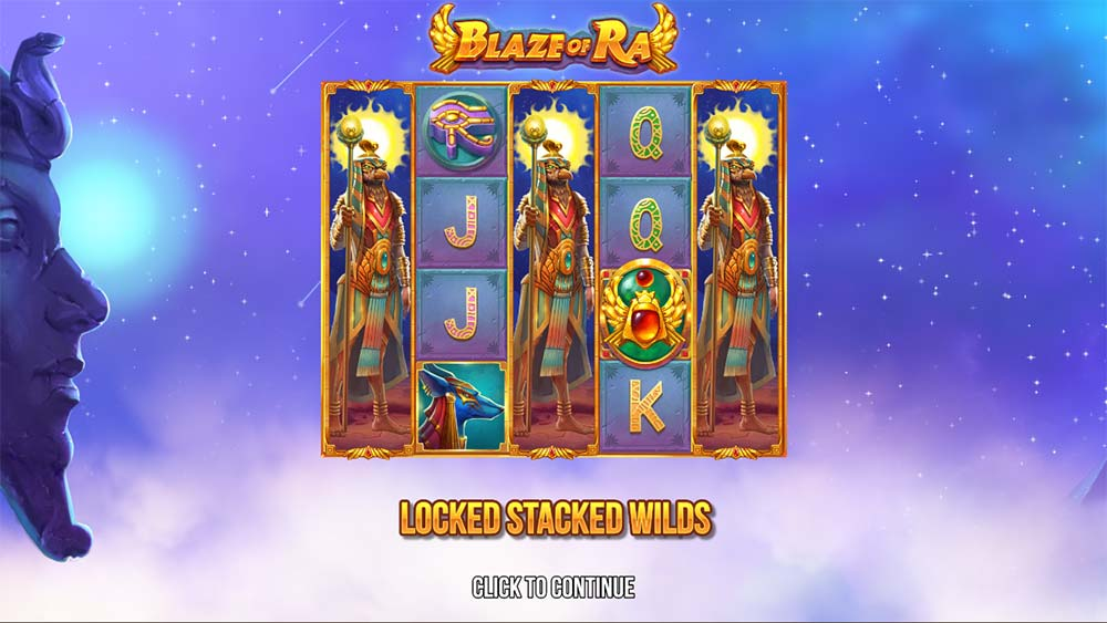 Blaze of Ra Slot - Intro Screen