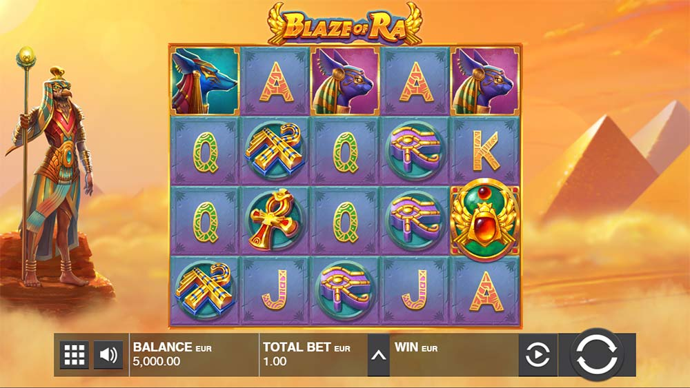 Blaze of Ra Slot - Base Game