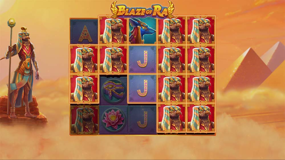 Blaze of Ra Slot - Nudging Wilds Feature