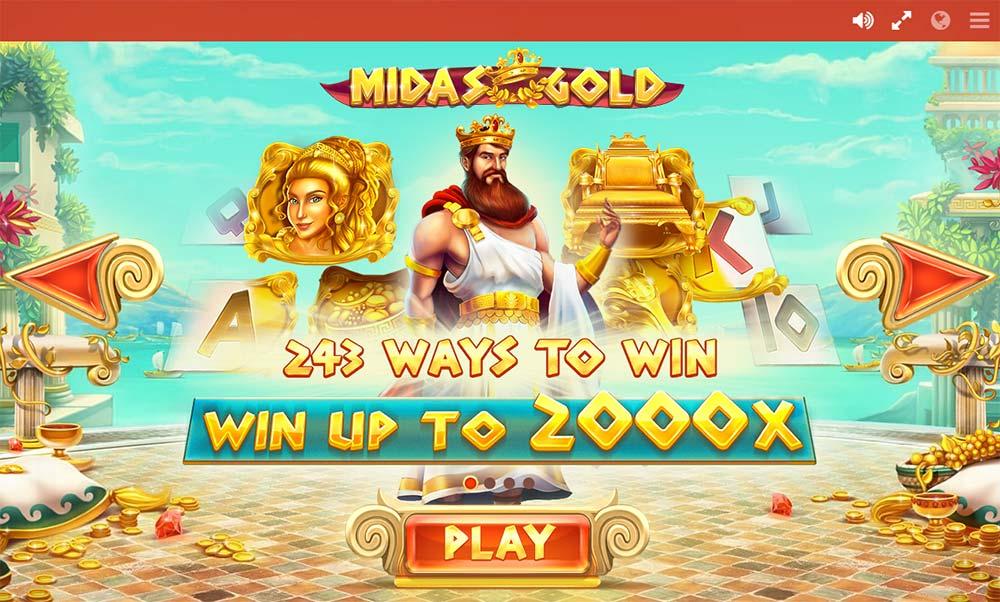 Midas Gold Slot - Intro Screen