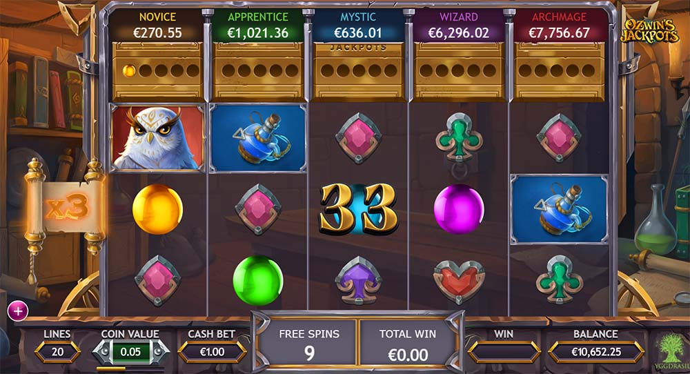 Ozwin's Jackpots Slot - Free Spins