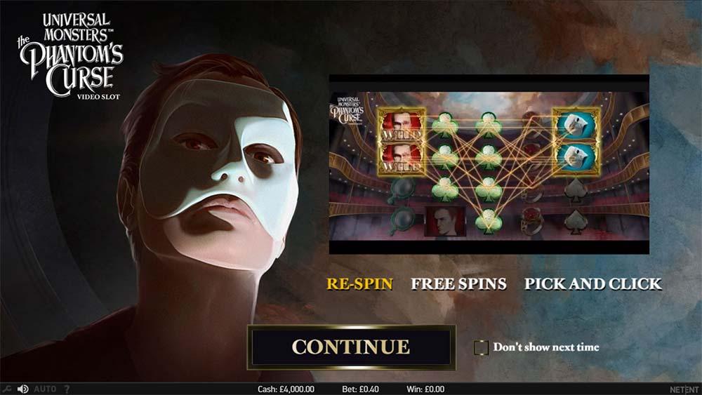 Phantom's Curse Slot - Intro Screen