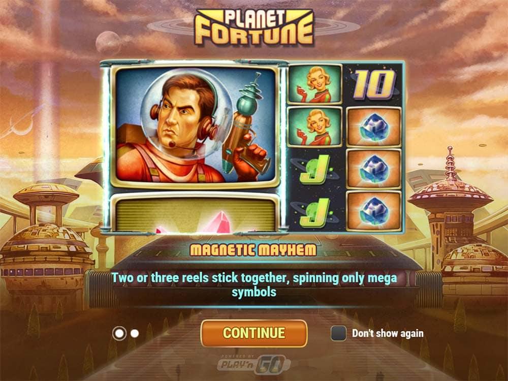 Planet Fortune Slot - Intro Screen