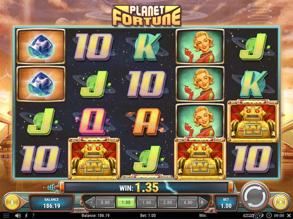Planet Fortune Slot - Bonus Trigger