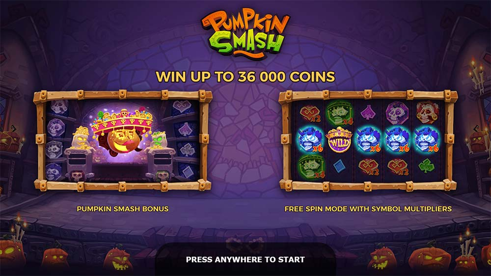 Pumpkin Smash Slot - Intro Screen