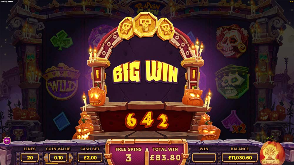 Pumpkin Smash Slot - Big Win