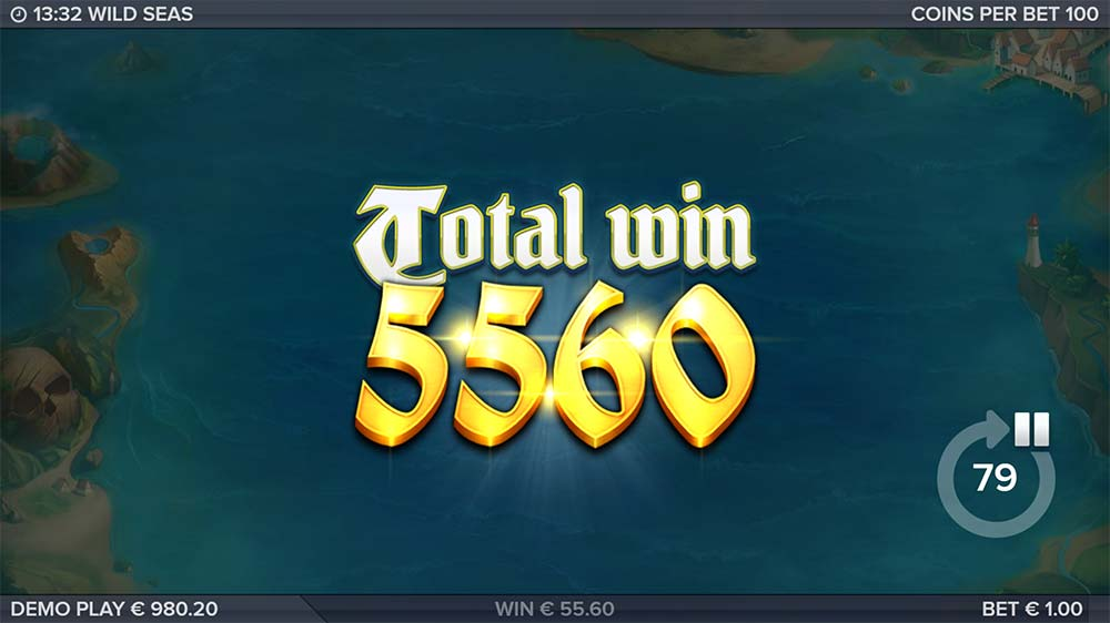 Wild Seas Slot - Bonus End