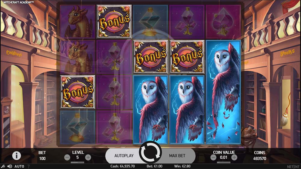 Witchcraft Academy Slot - Bonus Trigger