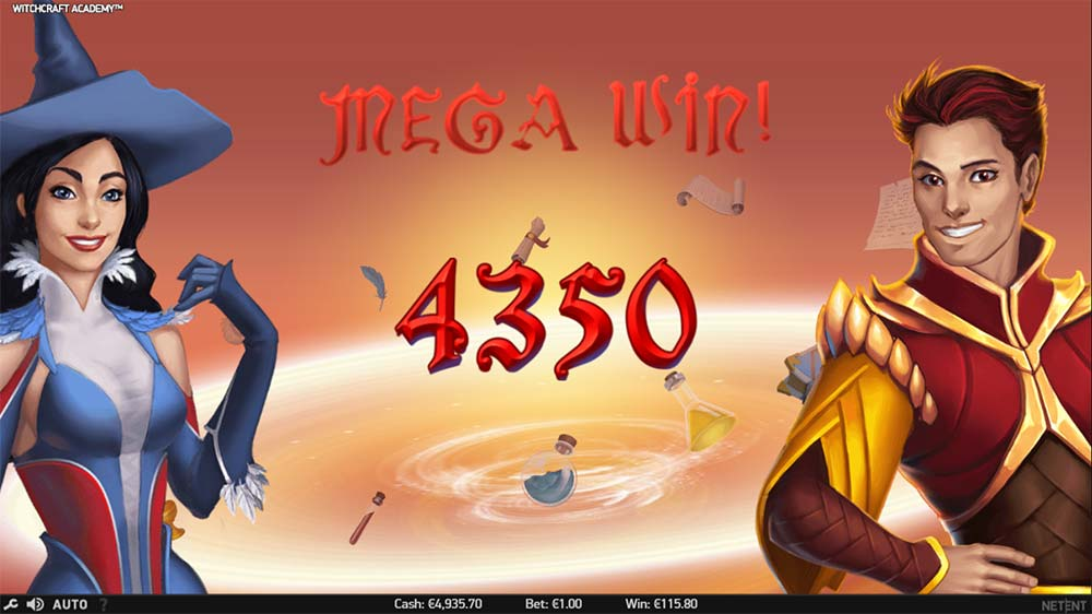 Witchcraft Academy Slot - Mega Win