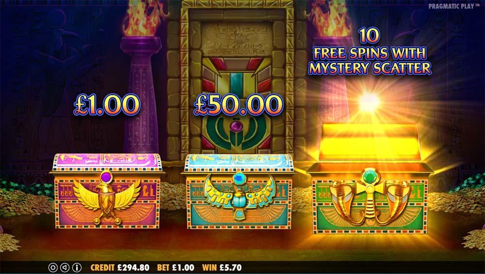 Ancient Egypt Slot - Bonus Pick Screen