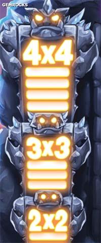 Gem Rocks Slot Win Collection Meter