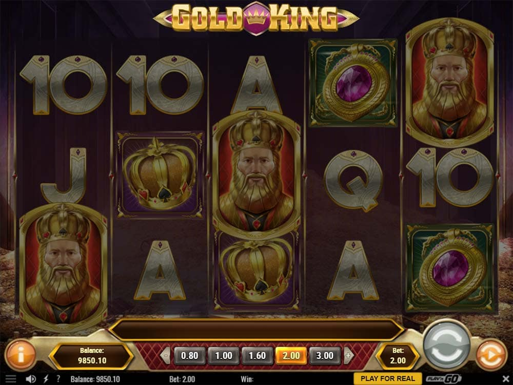 Gold King Slot - Free Spins Trigger