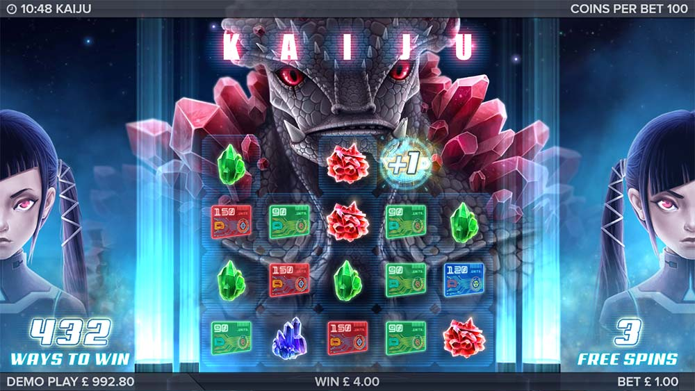 Kaiju Slot - Kaiju Red Free Spins