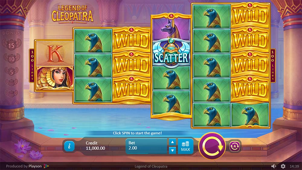 Legend of Cleopatra Slot - Base Game