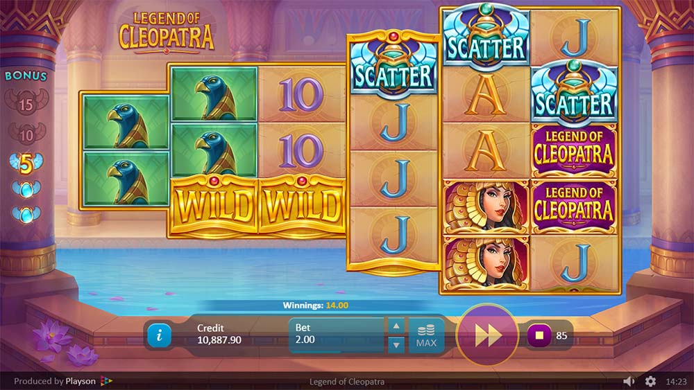 Legend of Cleopatra Slot - Free Spins Trigger