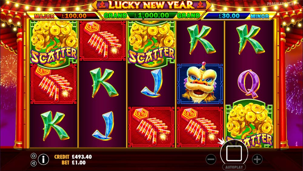 Lucky New Year Slot - Free Spins Trigger