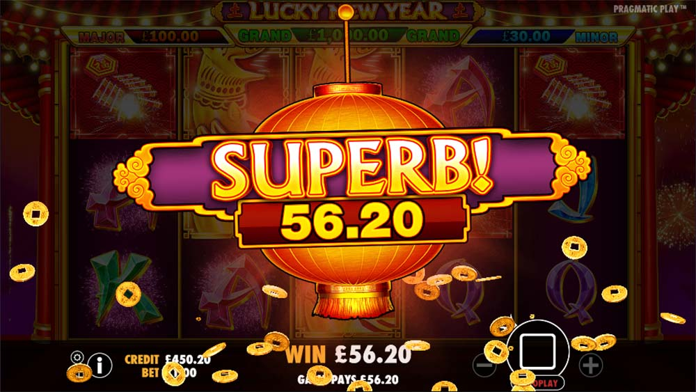 Lucky New Year Slot - Big Win