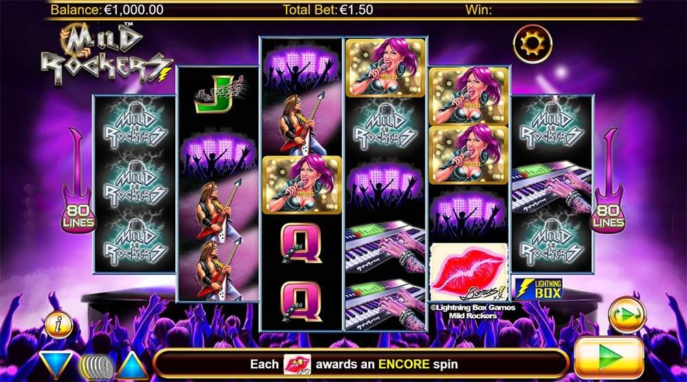 Mild Rockers Slot - Base Game