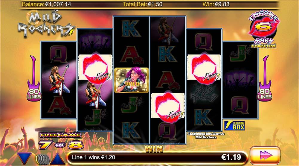 Mild Rockers Slot - Encore Free Spins Earned