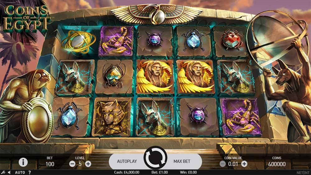 Coins of Egypt Slot - Base game