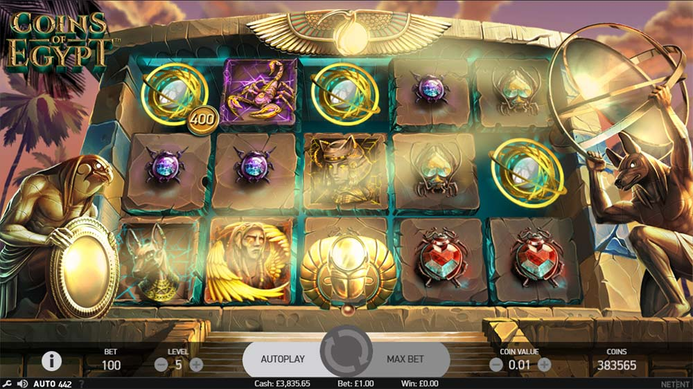 Coins of Egypt Slot - Bonus Trigger