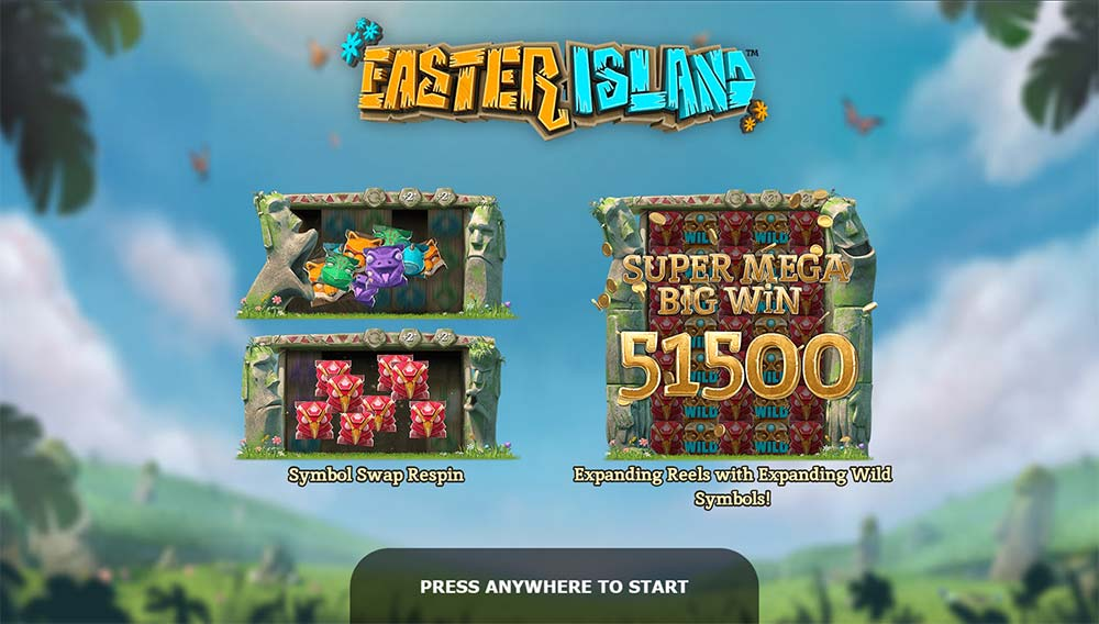 Easter Island Slot - Intro Screen