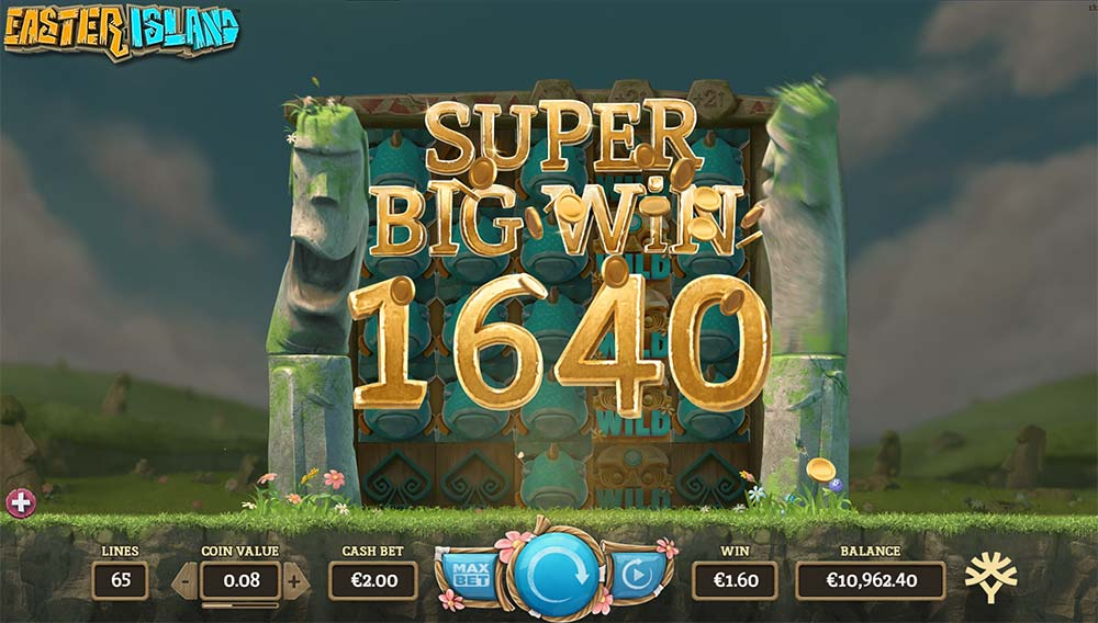 Easter Island Slot - Super Big Win