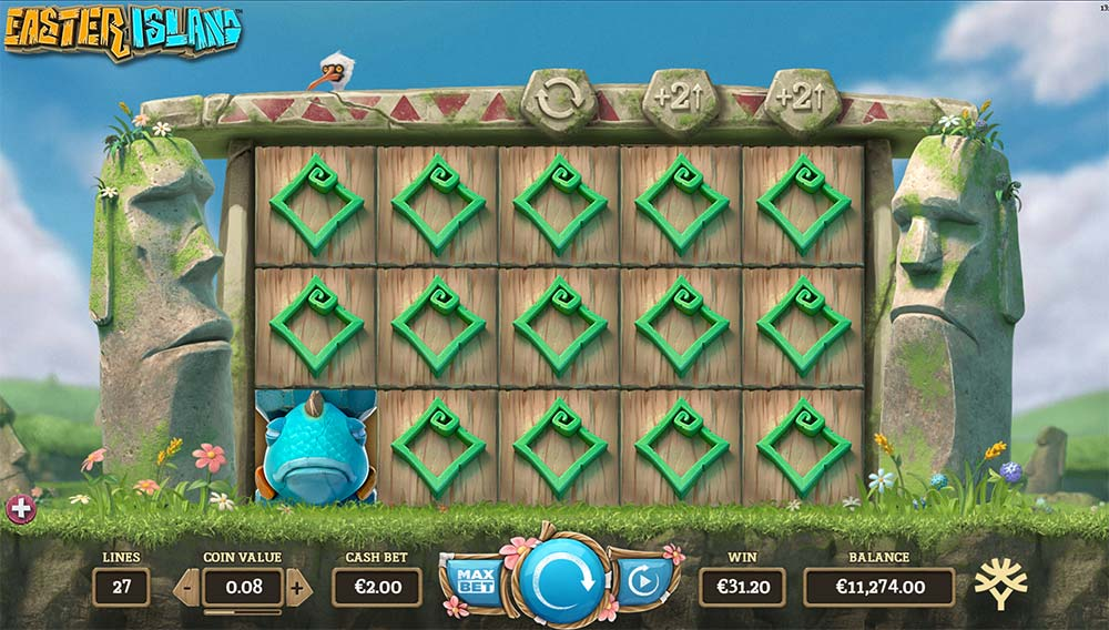 Easter Island Slot - Stacked Symbols