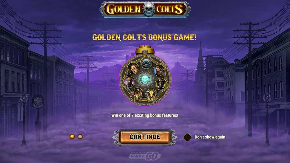 Golden Colts Slot - Intro Screen