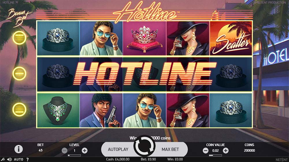 Hotline Slot - Hotline Bonus Bet Activated