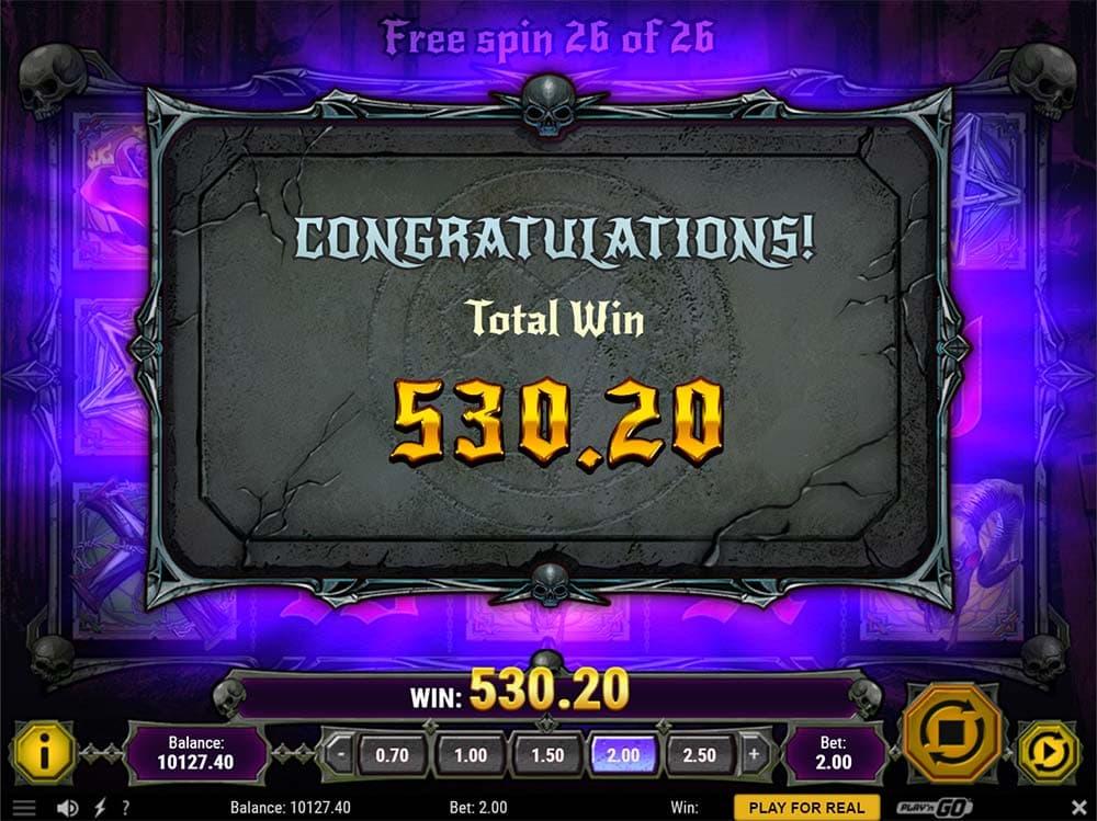 House of Doom Slot - Bonus End
