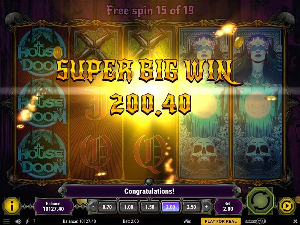 House of Doom Slot - Super Big Win