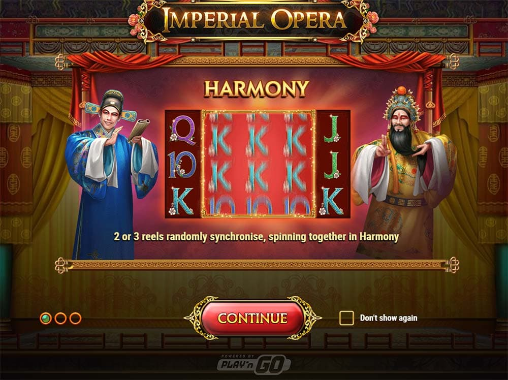 Imperial Opera Slot - Intro Screen