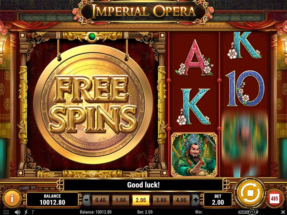 Imperial Opera Slot - Free Spins Trigger