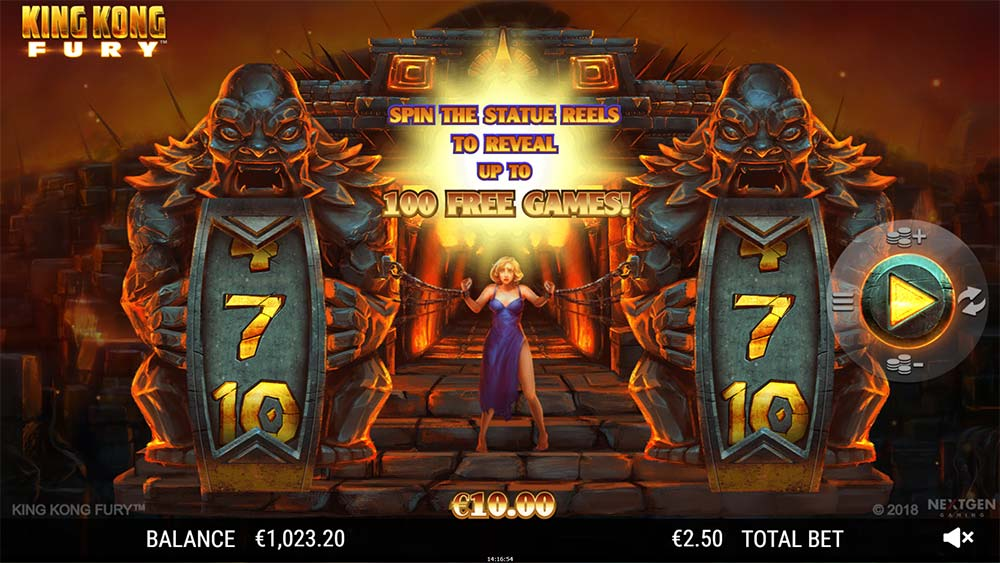 King Kong Fury - Free Spins Start