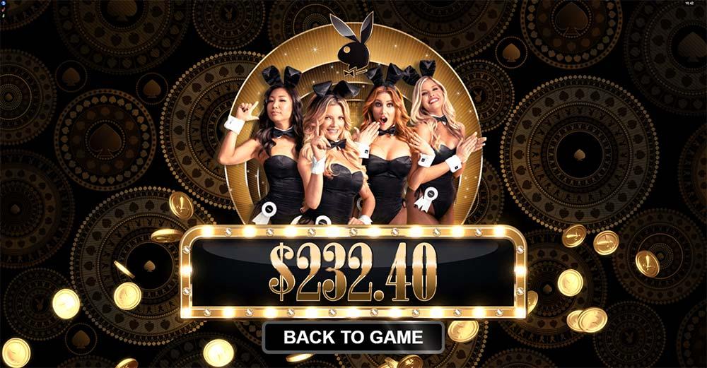 Playboy Gold Slot - Bonus End