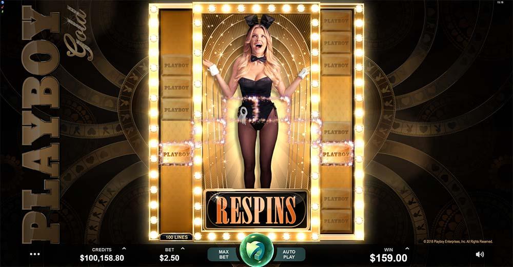 Playboy Gold Slot - Respins