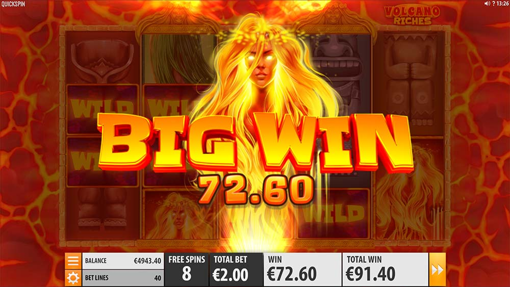 Volcano Riches Slot - Big Win