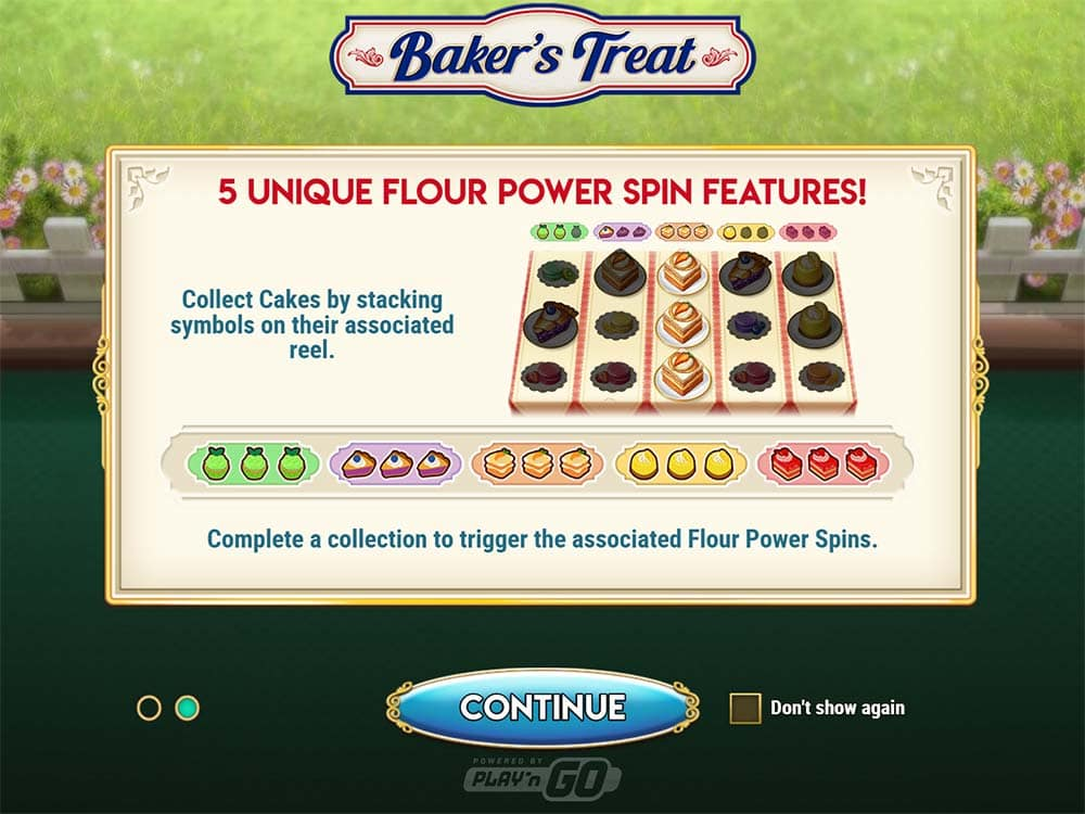 Baker's Treat Slot - Intro Screen