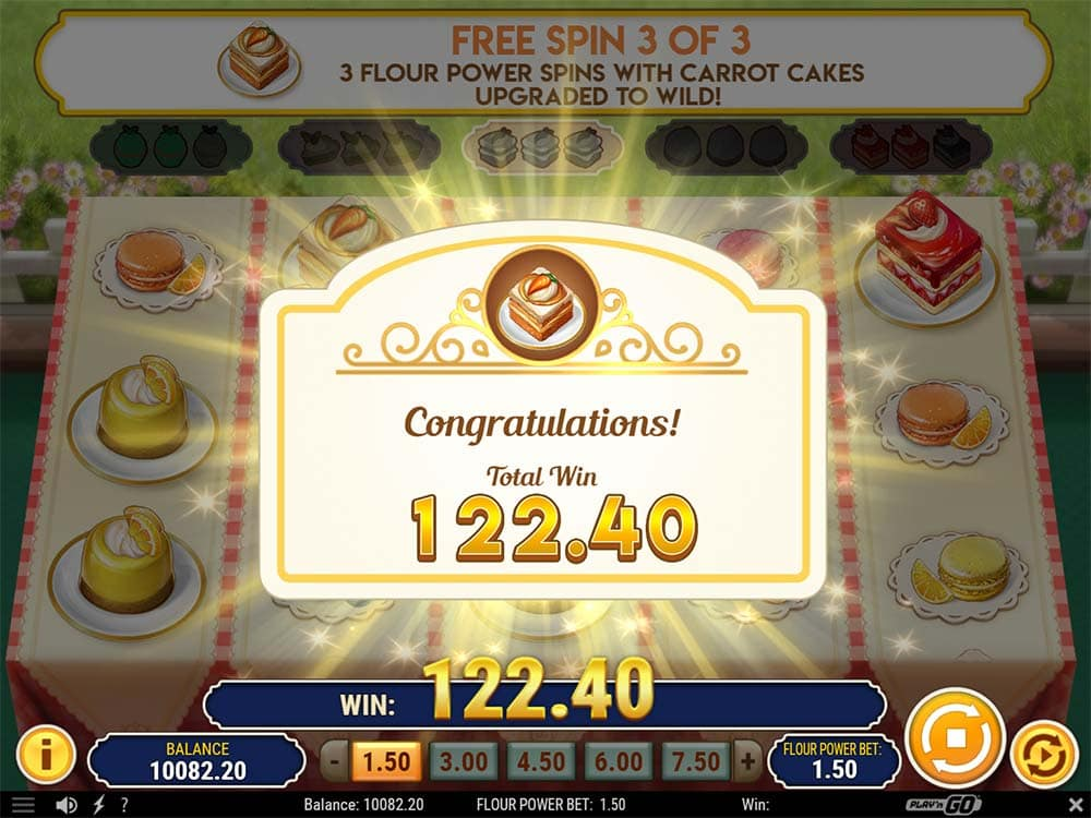 Baker's Treat Slot - Flour Power Win