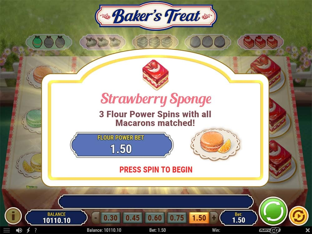 Baker's Treat Slot - Strawberry Sponge Feature