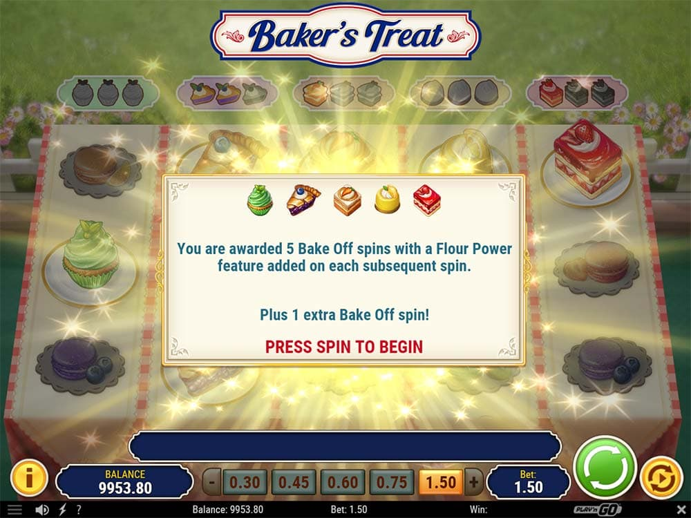 Baker's Treat Slot - Bake Off Bonus Triggered