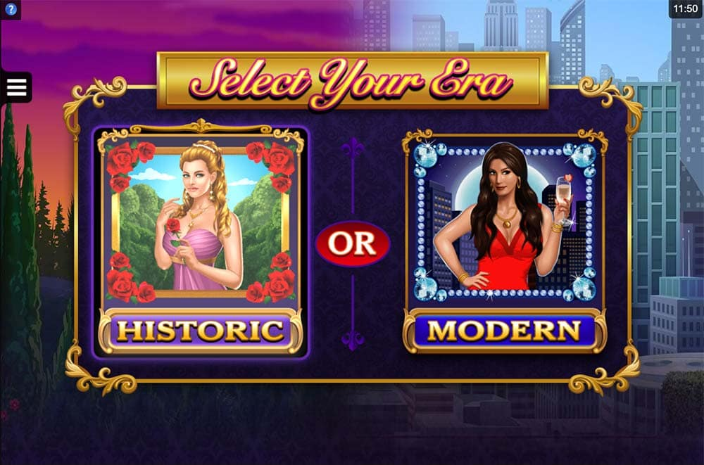 Dream Date Slot - Historic or Modern Graphics Options