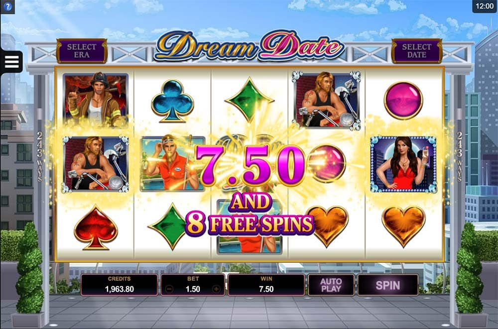 Dream Date Slot - Hot Zone Bonus Trigger