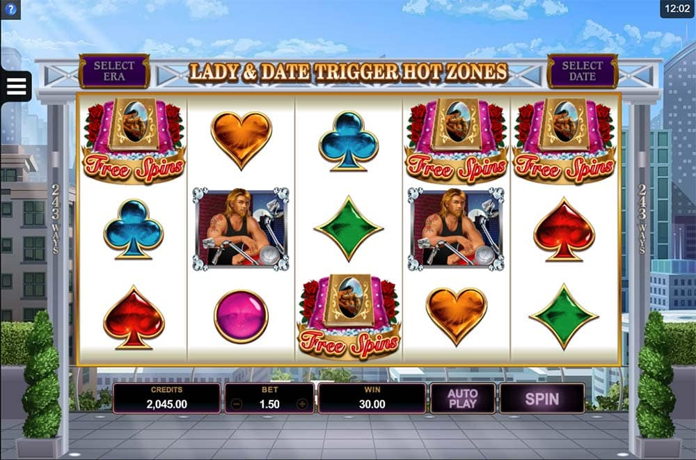 Dream Date Slot - Scatter Bonus Trigger