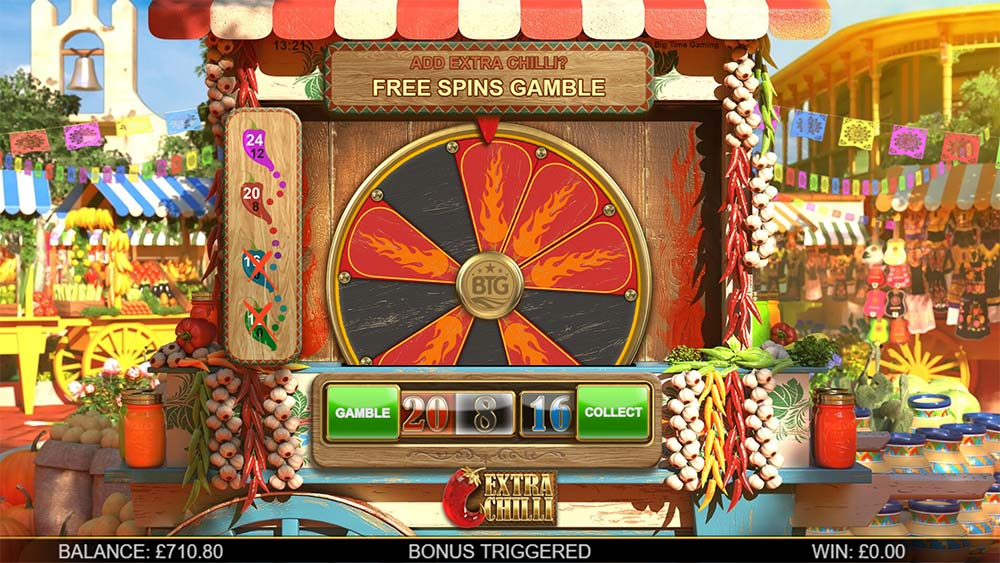 Extra Chilli Slot - Free Spins Gamble Wheel
