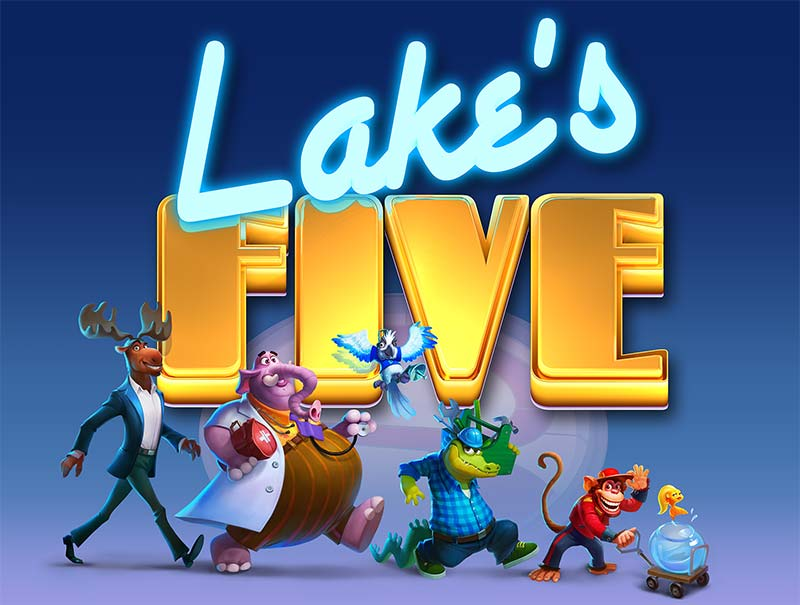 Lake's Five Slot Logo