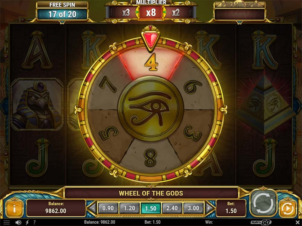 Legacy of Egypt Slot - Re-Trigger Bonus Wheel