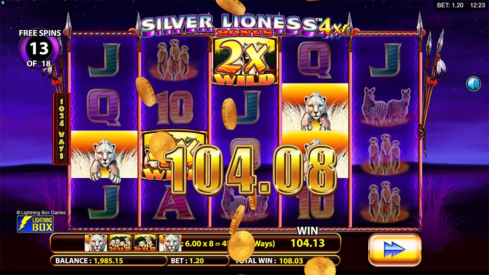 Silver Lioness 4x Slot - Free Spins Multipliers