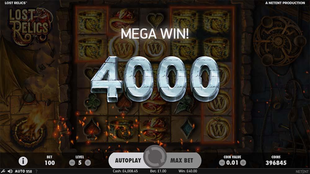 Lost Relics Slot - Mega Win